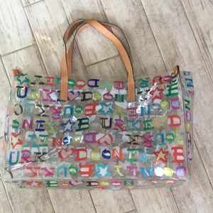 Dooney & Bourke Large Clear Plastic Tote